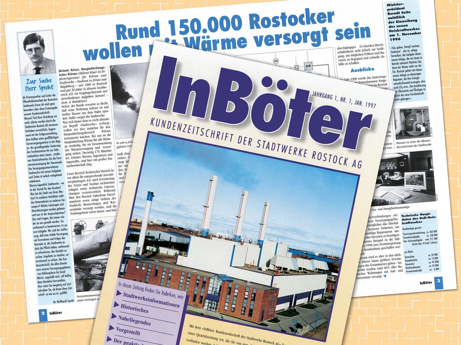 1997 - Die erste Ausgabe unserer Kundenzeitschrift InBöter erscheint.