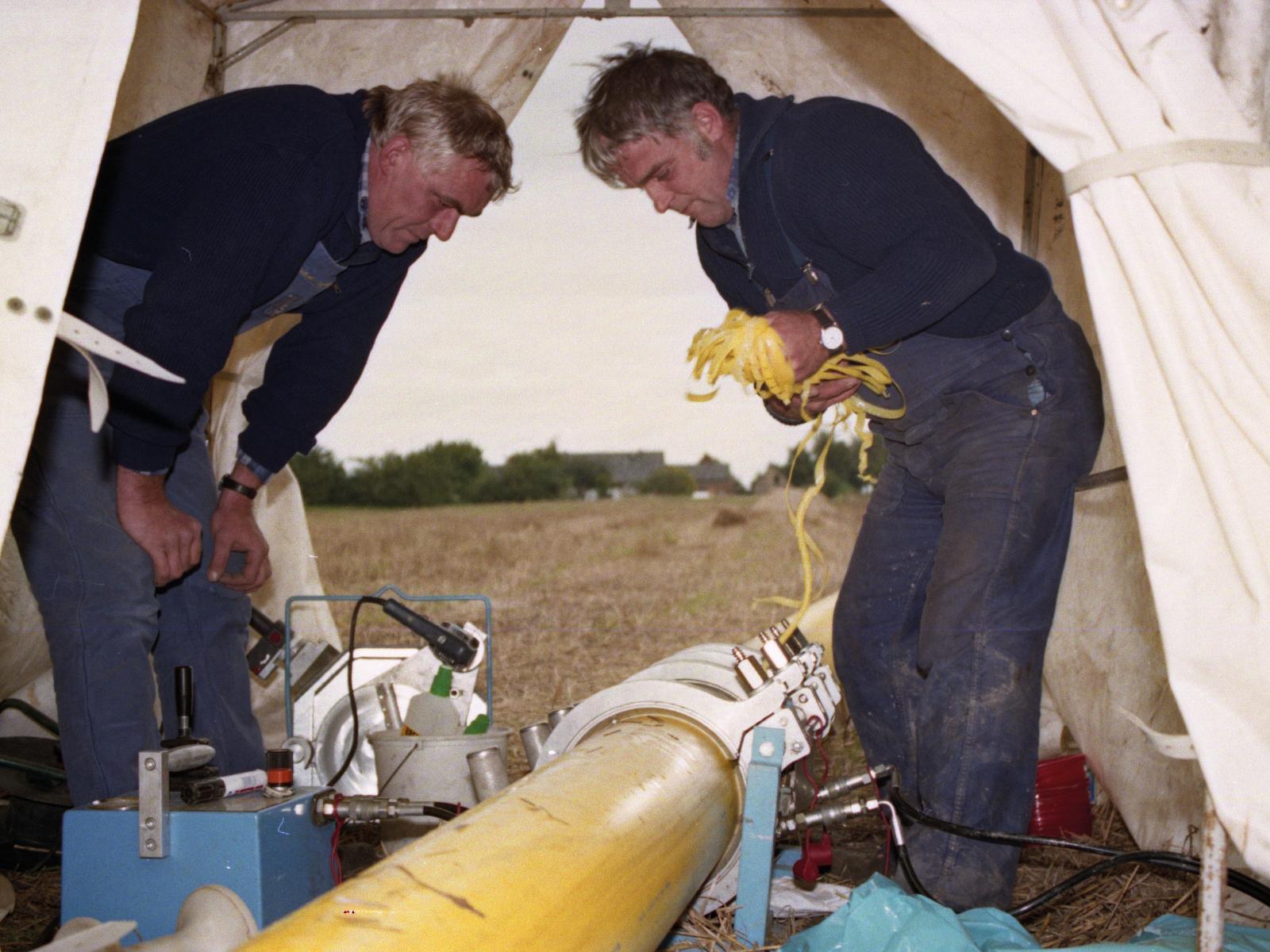 1992 - Umstellung auf Erdgas und Erweiterung des Versorgungsnetzes