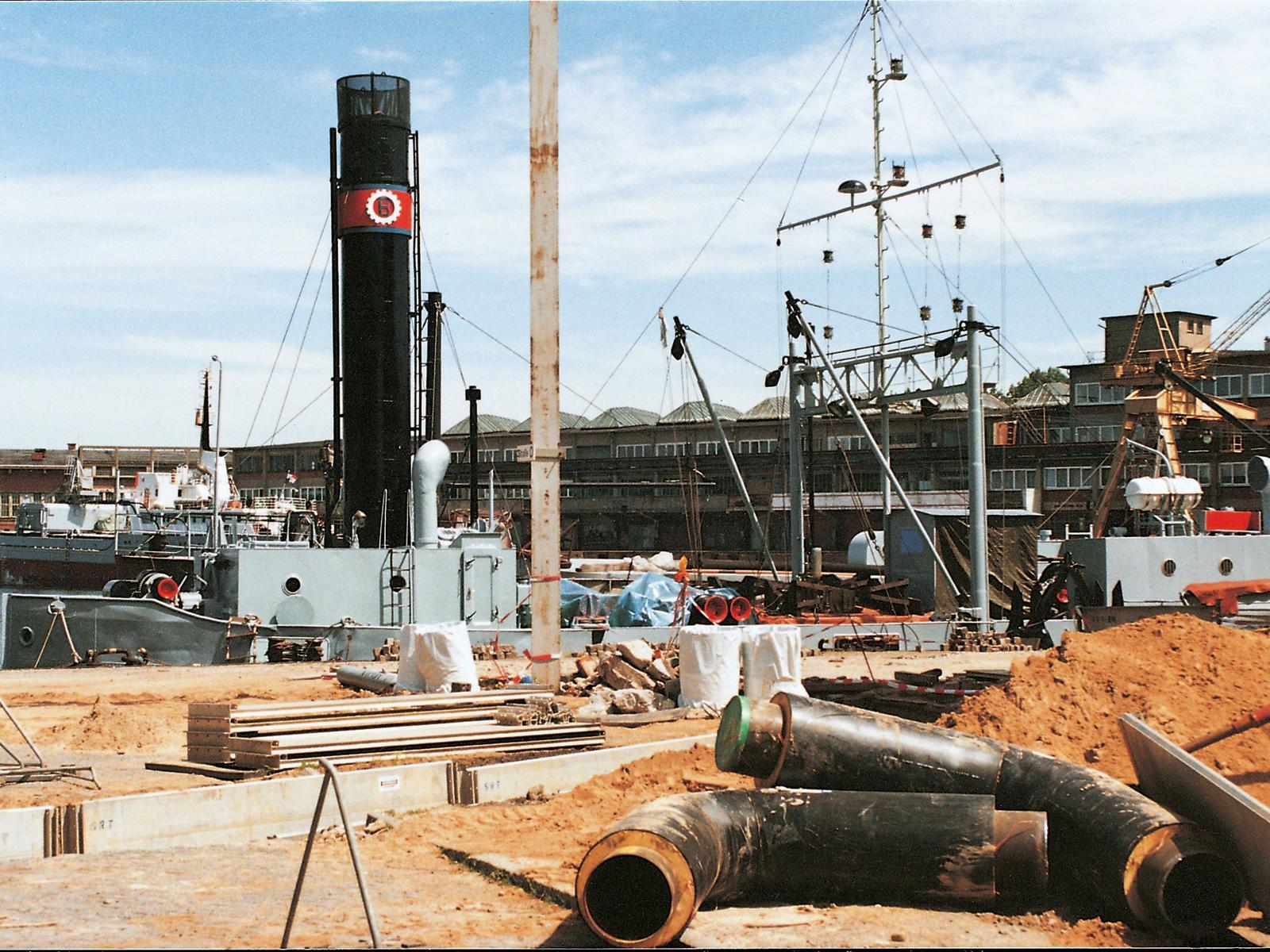 1994 - Ausbau bzw. Verdichtung bestehender Fernwärmesysteme z.B. im Fischereihafen in Marienehe