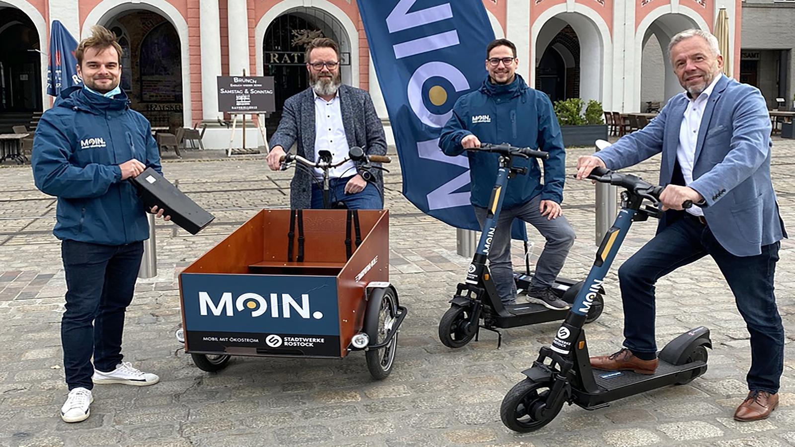 Neue E-Scooter für die Hansestadt Rostock