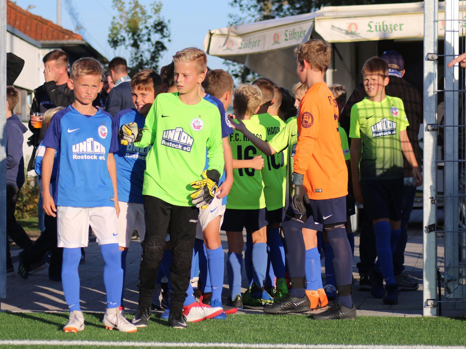 Die Spieler der Hansa Nachwuchsakademie