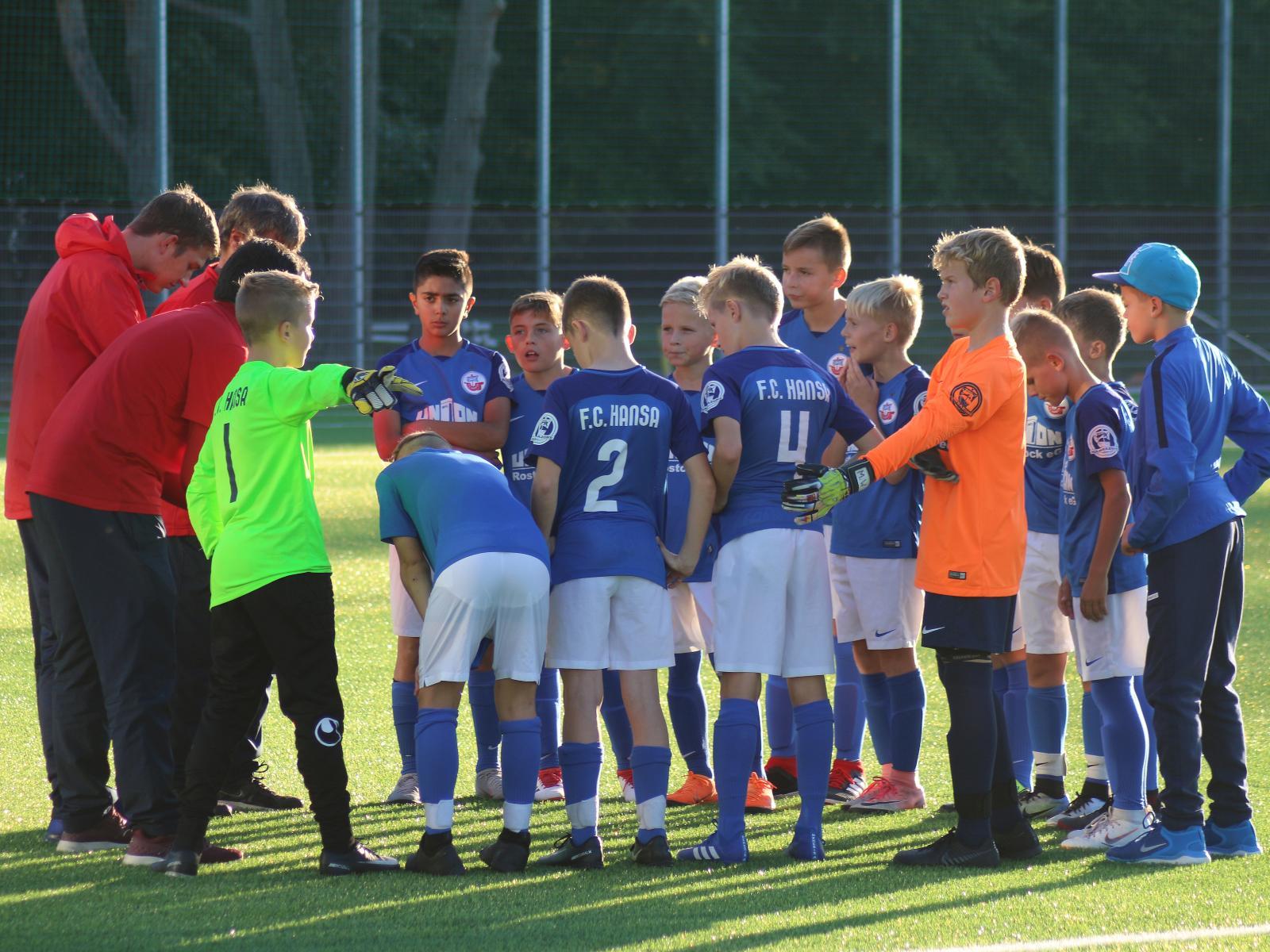 Die Mannschaft der Hansa Nachwuchsakademie