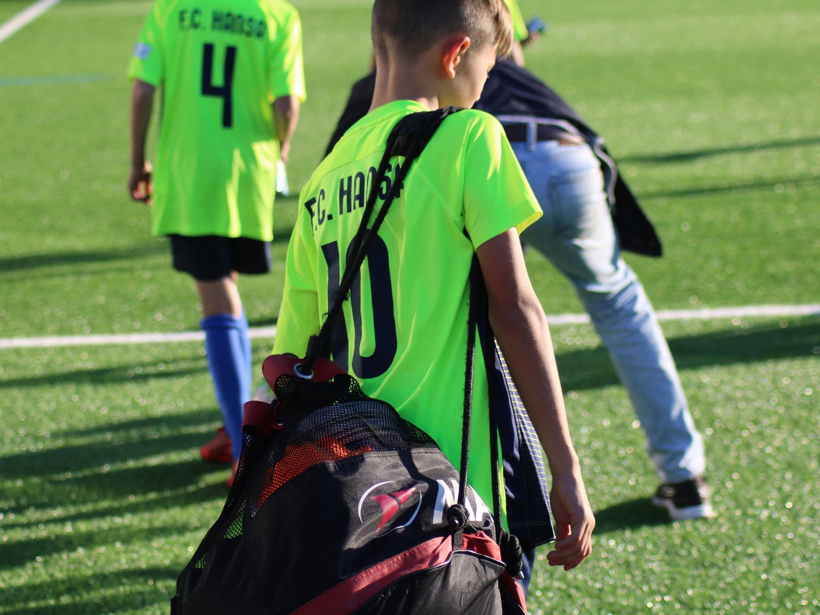 Ein Spieler der Hansa Nachwuchsakademie